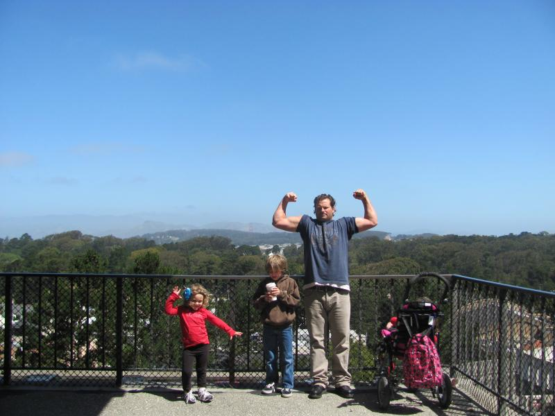 Mark and family in San Francisco 2011