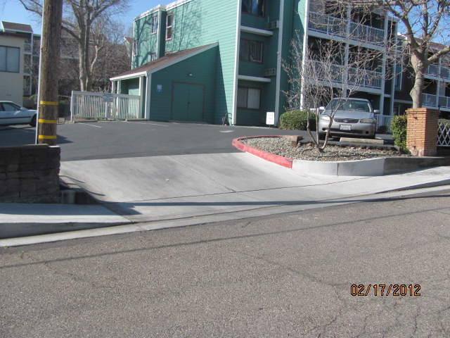 After ADA approved sidewalk and driveway