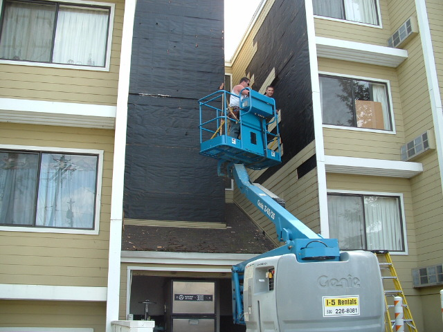 Re siding nad painting commercial building